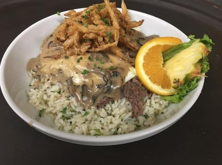 Get your short rib Loco Moco all month long at Original Breakfast House. It comes with white rice topped with boneless braised short ribs, two eggs, and mushroom gravy. - ORIGINAL BREAKFAST HOUSE'S FACEBOOK