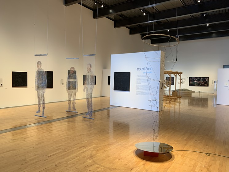 """Checking out the """"Explore: Go Boldly"""" exhibit in Tempe. - TEMPE CENTER FOR THE ARTS"""
