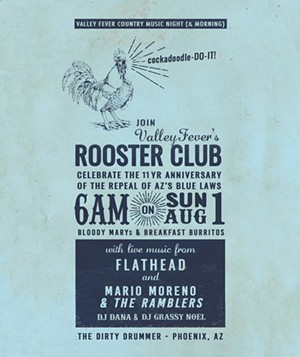 The flyer for this year's Rooster Club event. - VALLEY FEVER