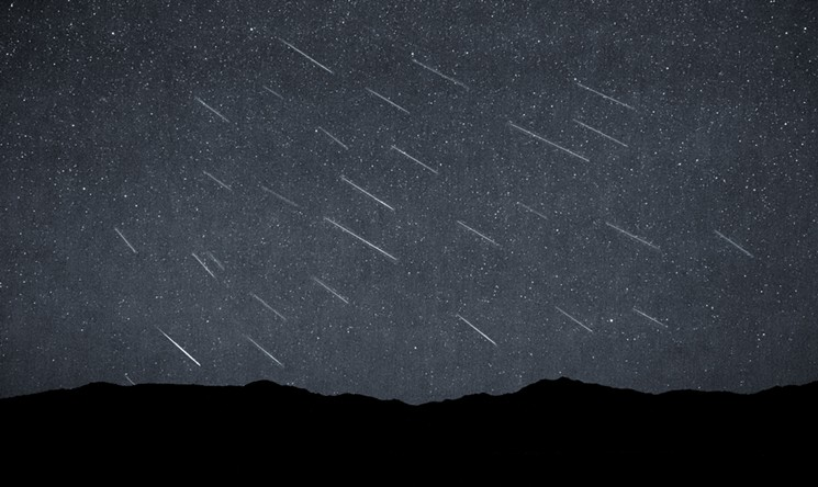 A time-lapse photo of the Perseid meteor shower in 2015. - TREVOR BEXON/CC BY 2.0/FLICKR