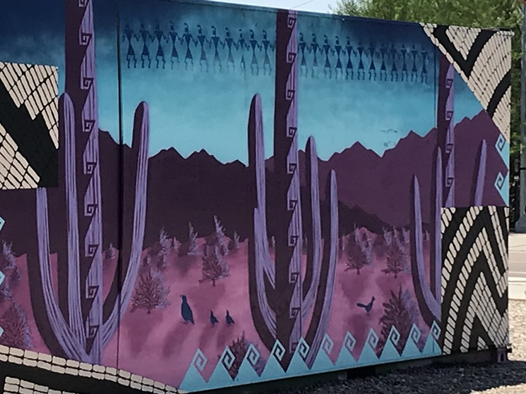 Look for Zachary Justin's mural on a shipping container gallery in Roosevelt Row. - LYNN TRIMBLE