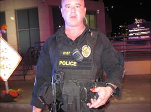 Phoenix Police Sergeant Douglas McBride on the night of October 17. - PHOTO VIA MCAO