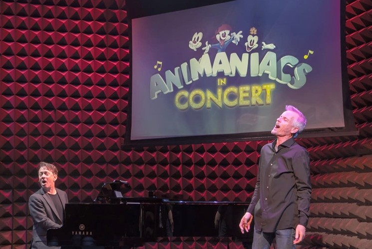 Composer Randy Rogel (left) and voice actor Rob Paulsen will perform during Animaniacs in Concert. - KEVIN YATAROLA