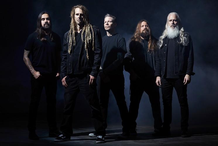 The members of death metal/thrash metal band Lamb of God. - TRAVIS SHINN