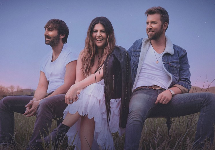 Lady A (formerly Lady Antebellum) are so damn happy. - DOVE SHORE