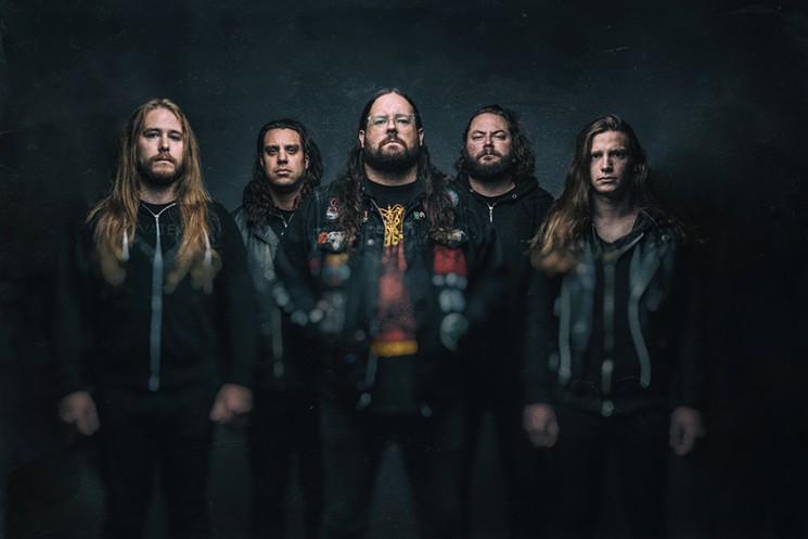 Melodic death metal band Black Dahlia Murder. - 13TH FLOOR ENTERTAINMENT