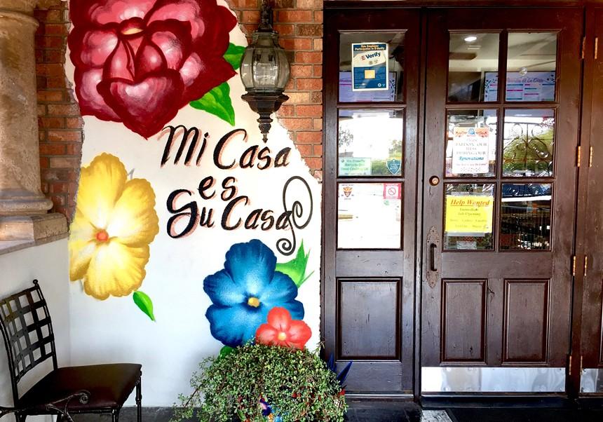 """""""Mi casa es su casa but mi taco es mi taco"""" at La Canasta Capitolio. - ALLISON YOUNG"""