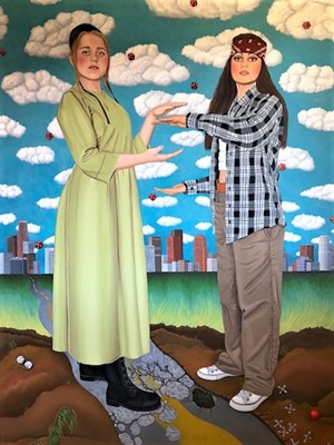 Jamilla Naji painted Rumspringa, which was awarded first place in the 2021 Artlink Juried Exhibition. - ARTLINK