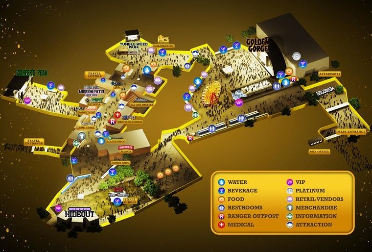 A map of the festival (click top right to enlarge).  - INCREDIBLE BEATS