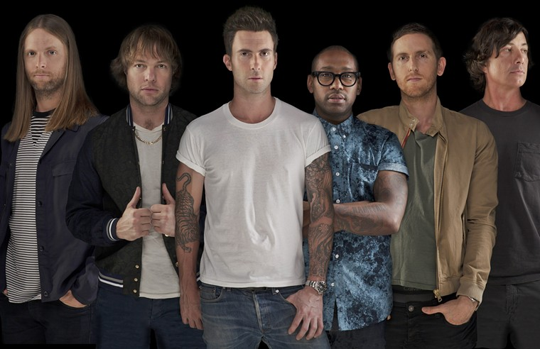 Expect to hear plenty of Maroon 5's hits at their show. - PRESS HERE TALENT