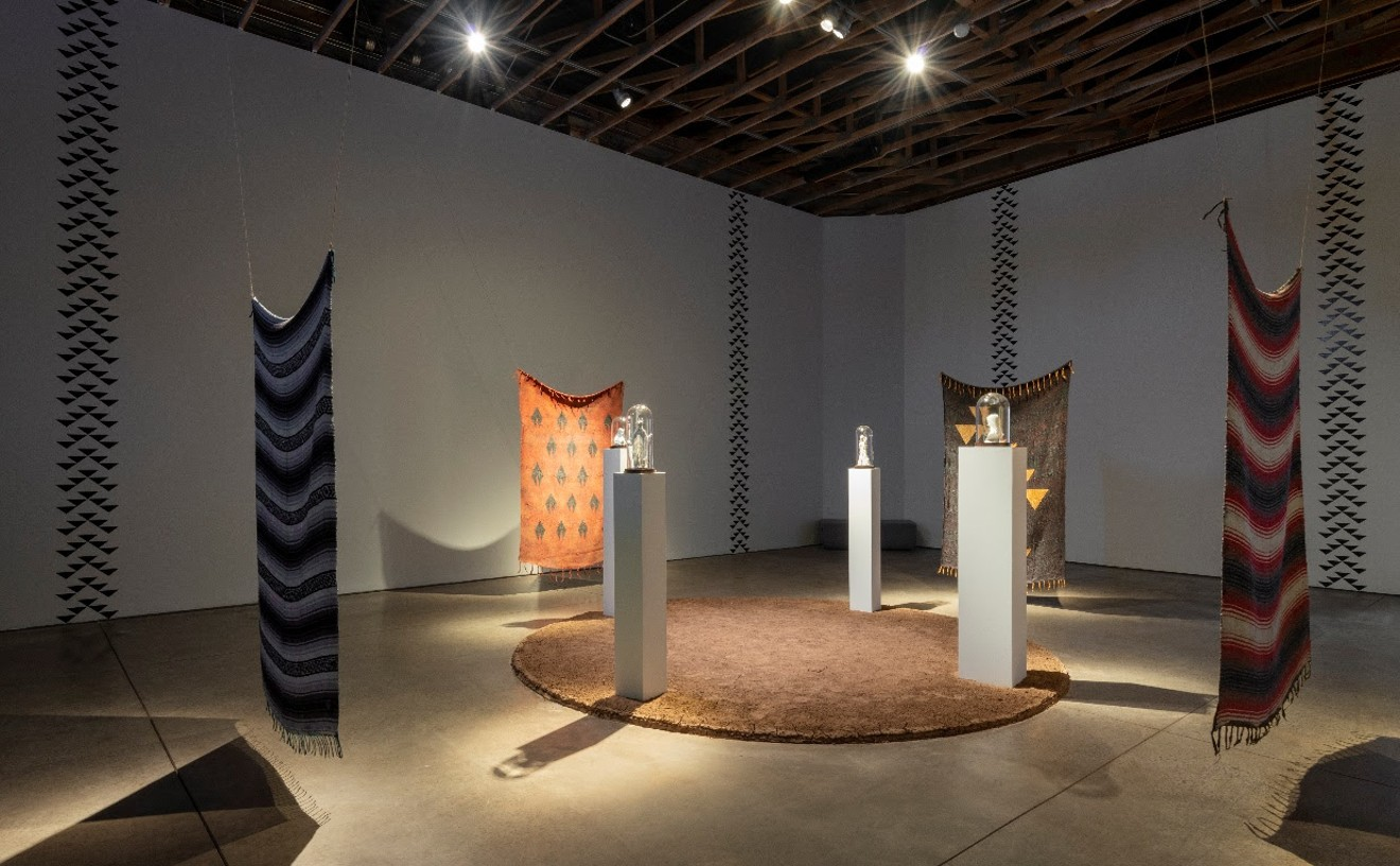 Jacob A. Meders'  And It's Built on the Sacred installation at Scottsdale Museum of Contemporary Art.