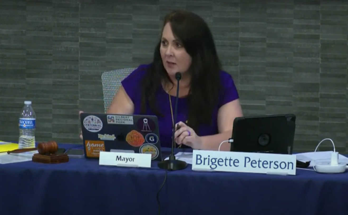 Brigette Peterson at the August 3 Gilbert Town Council meeting