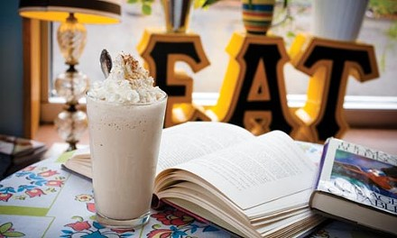 A frosty chai milkshake goes great with books. - RENEE ROSENSTEEL