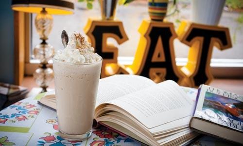 A frosty chai milkshake goes great with books. - RENEE ROSENSTEEL