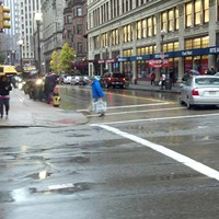 Pittsburgh reschedules Halloween but otherwise continues normal operations as Sandy blows in