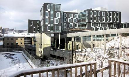 A novel of a building: Carnegie Mellon's Gates Hillman Center. - PHOTO COURTESY OF CHARLES ROSENBLUM.