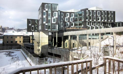 A novel of a building: Carnegie Mellon's Gates Hillman Center. - PHOTO COURTESY OF CHARLES ROSENBLUM.