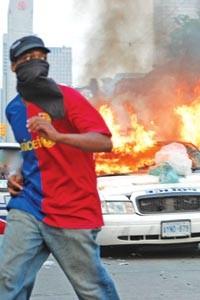 A protester at Toronto's G-20 - COURTESY OF TORONTO POLICE