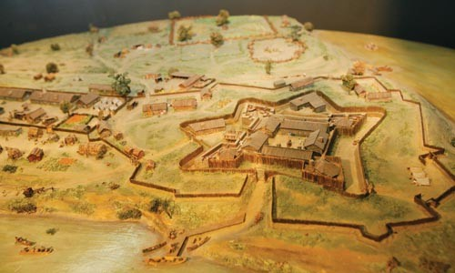 A scale model of the original fort in its entrance hall. - HEATHER MULL