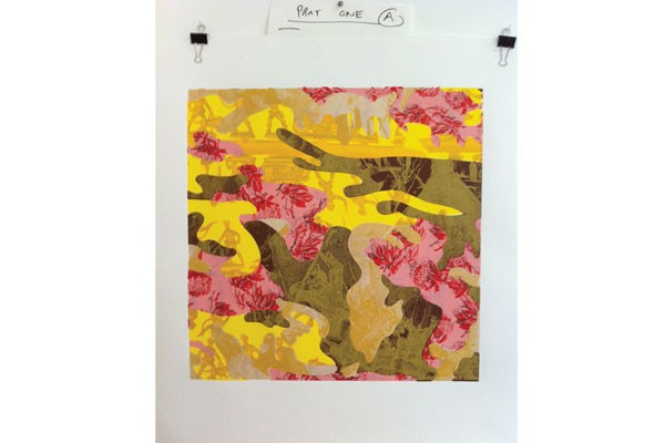 A screenprint on paper by Tresa Varner