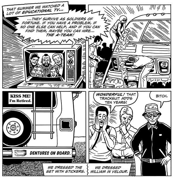 A sequence from Second Avenue Caper, with art by Mark Zingarelli
