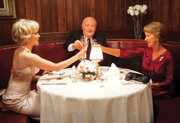 A table for three: Scarlett Johansson, Anthony Hopkins and Helen Mirren