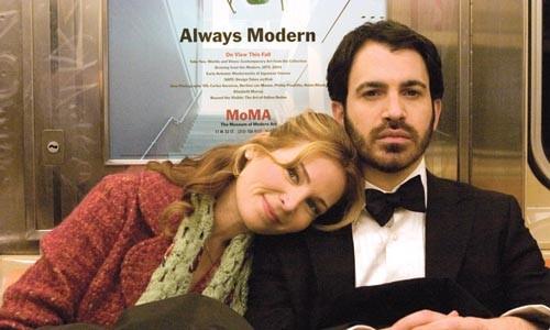 Abby (Jennifer Westfeldt) and Ira (Chris Messina) on the love train