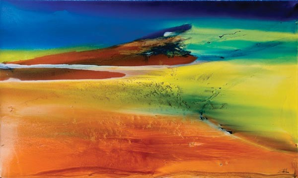 Abstract Colors, an exhibit of paintings by Annette Poitau, at Box Heart Gallery Aug. 21-Sept. 22
