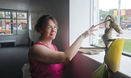 """Actress Kellee VanAken with """"Camino,"""" a puppet used in El Camino - RENEE ROSENSTEEL"""