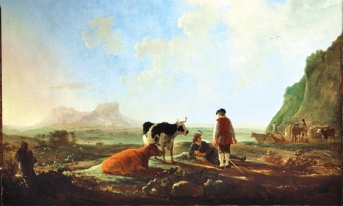 "Aelbert Cuyp, ""Herdsman with Cows,"" at The Dutch Italianates - COURTESY OF THE DULWICH PICTURE GALLERY"