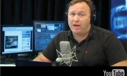 Alex Jones from a video discussing his channel's removal from YouTube - PHOTO: PRISONPLANET.COM