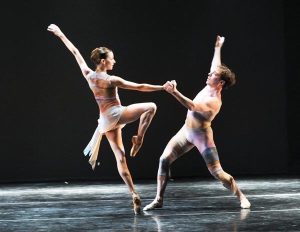 "Alexandra Kochis and Christopher Buzynski perform in ""Chromatic."""