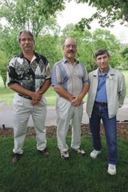 Allegheny Technologies retirees Jeff Rea, Joe George and Stephen Smarick - HEATHER MULL
