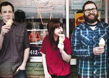 Always get the sprinkles: Donora (from left: Jake Churton, Casey Hanner, Jake Hanner) - COURTESY OF ELLE AND ARRE PHOTOGRAPHY
