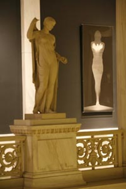 """An """"ANGEL"""" by Bruce Conner, beside the statuary of The Hall of Sculpture - HEATHER MULL"""