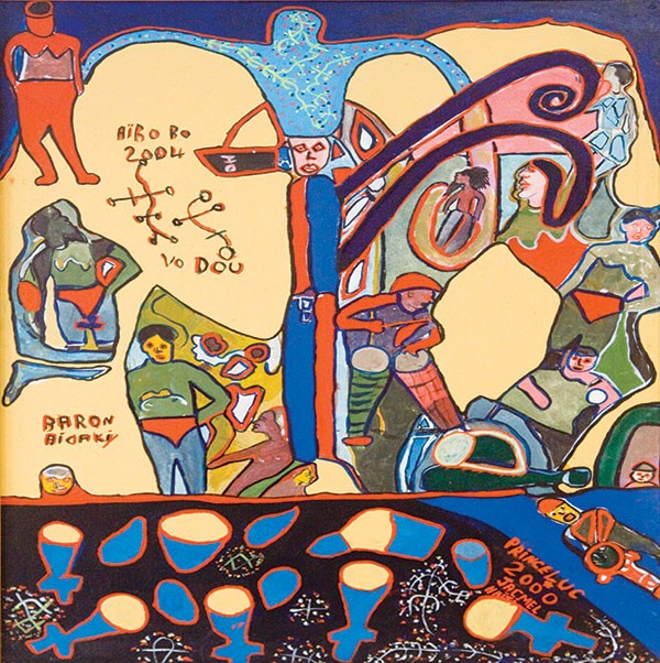 An untitled 2000 painting by Prince Luc
