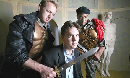 Andrew Paul (center) during his production of Julius Caesar at Pittsburgh Irish & Classical