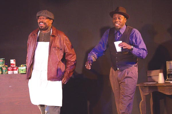 "Anthony Chisholm (left) and Edwin Gibson in ""Comfort Zone,"" part of the Theatre Festival in Black & White."