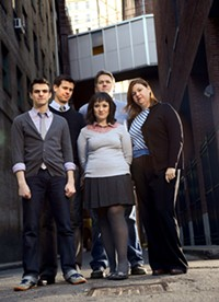 Arcade Comedy Theater co-founders (from left to right) Michael Rubino, Randy Kirk, Abby Fudor, Jethro Nolen and Kristy Nolen. - PHOTO COURTESY OF DAVID S. RUBIN