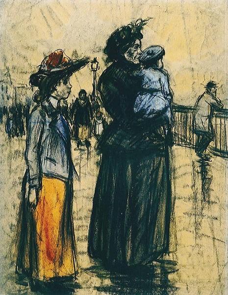 Art by Eugeen Van Mieghem. - IMAGE COURTESY OF VAN MIEGHEM MUSEUM AMERICAN JEWISH MUSEUM