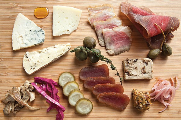 Artisan cheese and house charcuterie