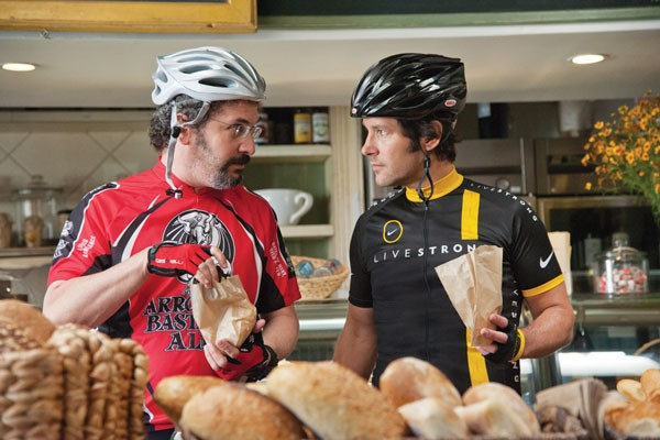 Artisanal bikers: Robert Smigel and Paul Rudd