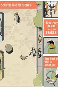 "Artist Glen Johnson's comic, ""A Bicycle Commute,"" is part of BikePGH's new bike map."