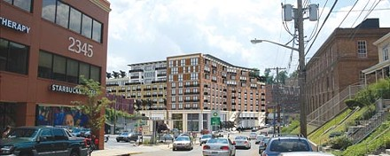 Artist's rendering of potential new structure, proposed for the corner of Forbes and Forward avenues - PHOTO ILLUSTRATION COURTESY OF RENAISSANCE 3 ARCHITECTS