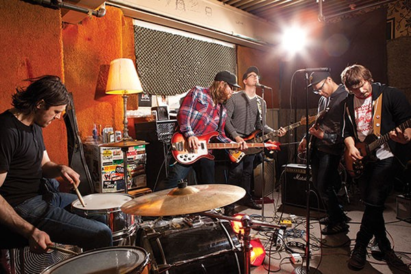 """Asking gets you far"": The Gotobeds (from left: Cary Belback, Read Connolly, Gavin Jensen, Tom Payne, Eli Kasan)"