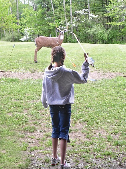 Atlatl competition at Meadowcroft Rockshelter and Historic Village, June 16-17