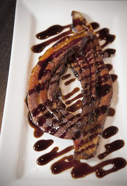 Bacon stix with balsamic glaze - PHOTO BY HEATHER MULL