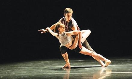 Ballet Boyz, plus girl. - PHOTO BY BEN RUDICK, COURTESY OF JACOB'S PILLOW.