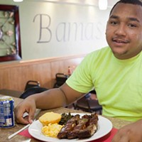 Bama's Bama's customer Adrian Foster Photo by Heather Mull
