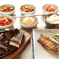 Barbequed pork and mackerel